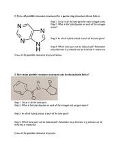resonance hybridization tutorial worksheet week 2 1 draw all possible resonance structures for. Black Bedroom Furniture Sets. Home Design Ideas
