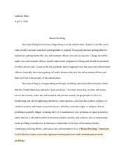 Racial Profiling Reasearch Paper.docx