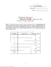 Math 21D Midterm Solutions 1