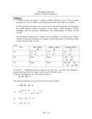 MECH 364 2009 Final Exam Solutions