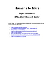Humans to Mars - Bryan Palaszewski