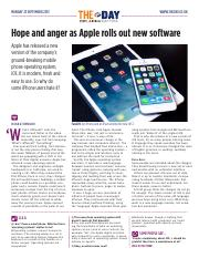 1908 Hope and anger as Apple rolls out new software