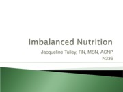 N336 Imbalanced Nutrition student