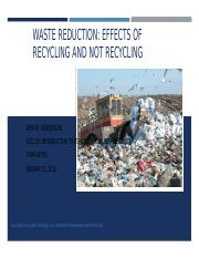 Week 2 Assignment 1 Waste Reduction SOC120