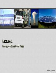 Lecture 01 - Energy on the Global Stage