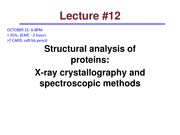 BCH201 Lecture 12