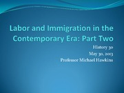 17 Labor and Immigration Part 2