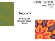 HTML XHTML and XML 3e Tutorial 3 edited