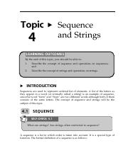 13160003Topic4SequenceandStrings