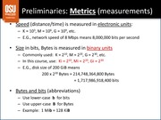 Lecture on Metrics and Measurements