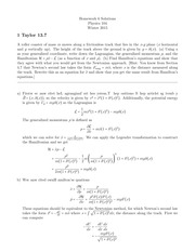Homework 6 Solutions- Hamiltonian mechanics