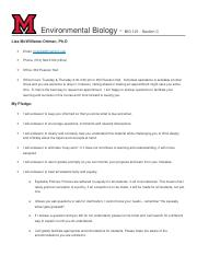 BIO 121 - Environmental Biology - Syllabus - Fall 2016 - Section C.docx