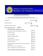 WITHHOLDING TAX CALCULATOR