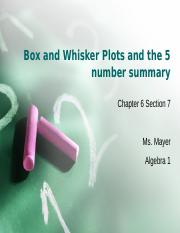 6.7 Box and Whisker Plots (1).ppt