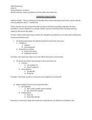 Introductory Speech Outline