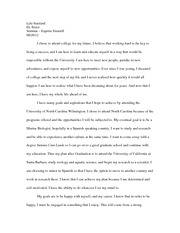 HON 110 Express Yourself Essay 1
