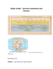 Study Guide Ancient Continents