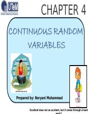 CHAPTER4_Continuous Random Variable
