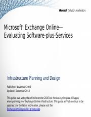 IPD - Exchange Online - Evaluating Software-plus-Services version 1.6.pptx