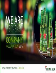 HEINEKEN Company Presentation 23 April 2015