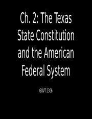 GOVT 2306 Ch. 2 The Texas State Constitution and the American Federal System.pptx