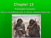 premodern humans for BB part 1