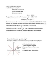 Lecture 2 Notes Semi Conductors