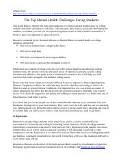 Reading 1 - The Top Mental Health Challenges Facing Students (7 pages).docx
