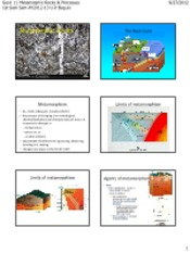 09 METAMORPHIC ROCKS & PROCESSES