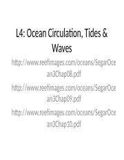 L4 Ocean Circulation & Water Movements.ppt