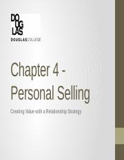 MARK 2150 Chapter 4 - Personal Selling CR