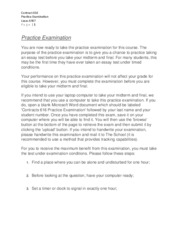 Contracts 616 Assignment #8 Practice Examination Lucas 6907