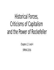 Historical Forces, Criticisms of Capitalism and the Power of Rockefeller.pptx
