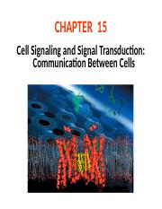Ch15 Cell signaling