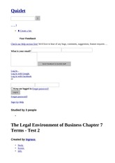 The Legal Environment of Business Chapter 7 Terms exam 2