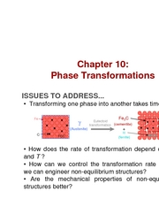 Chapter 10- Phase Transformations