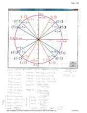 Math 1060 - Unit Circle and Equations