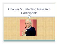 Chapter 5 researchmethod