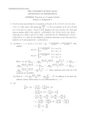 MATH 2403 2013 Assignment 3 Solutions