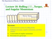 10.Rolling, Torque, and Angular Momentum-new