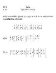 Exercise Chapter 3 Module 7 Distributivity