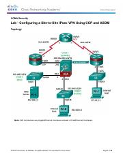 9.4.1.4 Lab - Configuring a Site-to-Site IPsec VPN Using CCP and ASDM.pdf