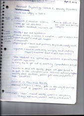 Advanced Abnormal Psychology Notes Lectures 1-4
