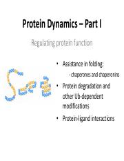5-Regulating Protein Function I