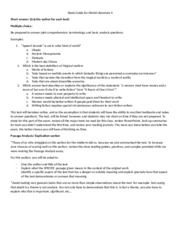 Study Guide for World Literature II Final exam