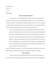 ethical dilemma essay ethical dilemma euthanasia introduction  5 pages dilemma essay