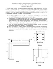 Sample Final Exam Solution on Prestressed Concrete Design