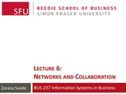Lecture 6 - Networks & Collaboration