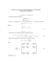 GENERAL ANALYSIS OF MAXIMA:MINIMA IN CONSTRAINED OPTIMIZATION PROBLEMS