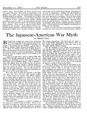 The Japanese-American War Myth